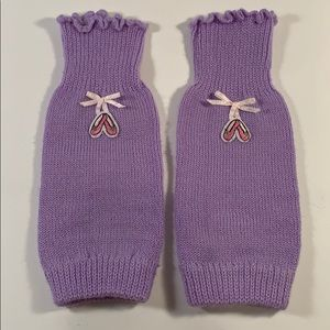 Young Girl's Toddler Ballet Leg Warmers Lavender